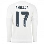 Maillot Real Madrid Manche Longue Arbeloa Domicile 2015 2016