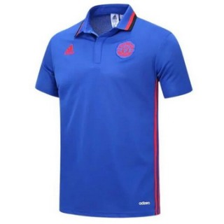 Maillot Polo Manchester United Blue Sky 2016 2017