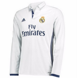 Maillot Real Madrid Manche Longue Domicile 2016 2017