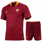 2018 2019 Ensemble Foot AS Roma Enfant Junior Rome Maillot Short Domicile