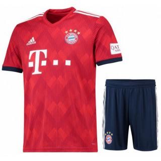 2018 2019 Ensemble Foot Bayern Münich Enfant Junior Maillot Short Domicile