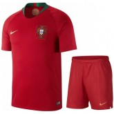 2018 2019 Ensemble Foot Enfant Portugal Maillot Short Coupe Du Monde Domicile