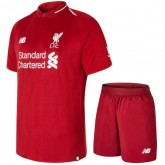 2018 2019 Ensemble Foot Liverpool Enfant Maillot Short Domicile