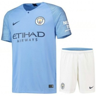 2018 2019 Ensemble Foot Manchester City Enfant Junior Maillot Short Domicile