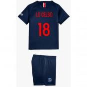 2018 2019 Ensemble Foot PSG LO CELSO Enfant Paris Saint Germain Maillot Short Chaussettes Domicile