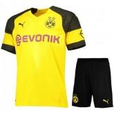 2018 2019 Homme Ensemble Foot Dortmund BVB Maillot Short Domicile