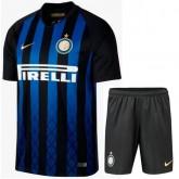 2018 2019 Homme Ensemble Foot Inter Milan Maillot Short Domicile