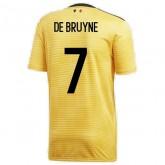 2018 2019 Homme Maillot Belgique DE BRUYNE Coupe du Monde Extérieur