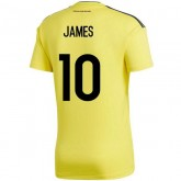 2018 2019 Homme Maillot Colombie JAMES Coupe du Monde Domicile