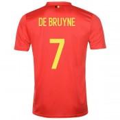 2018 2019 Homme Maillot Equipe de Belgique DE BRUYNE Coupe du Monde Domicile