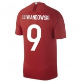 2018 2019 Homme Maillot Equipe de Pologne LEWANDOWSKI Extérieur Coupe du Monde