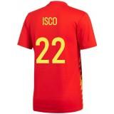 2018 2019 Homme Maillot Espagne ISCO Coupe du Monde Domicile