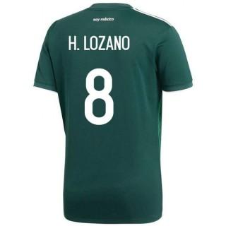 2018 2019 Homme Maillot Mexique LOZANO Coupe du Monde Domicile