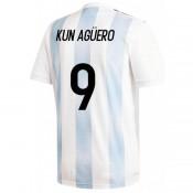 2018 2019 Maillot Argentine Enfant AGUERO Coupe du Monde Domicile