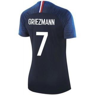 2018 2019 Maillot Equipe de France GRIEZMANN #7 Femme Coupe Du Monde Domicile