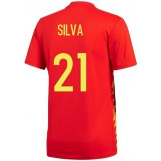 2018 2019 Maillot Espagne SILVA Enfant Coupe Du Monde Domicile
