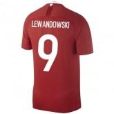 2018 2019 Maillot Pologne Enfant LEWANDOWSKI Extérieur Coupe du Monde