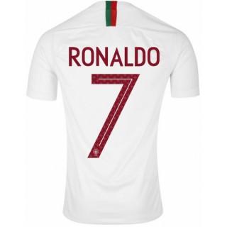 2018 2019 Maillot de Foot Portugal Enfant RONALDO Officiel Extérieur Coupe du Monde