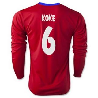 Maillot Atletico De Madrid Ml Koke Domicile 2015 2016