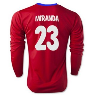 Maillot Atletico De Madrid Ml Miranda Domicile 2015 2016