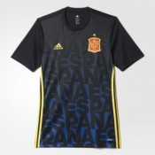 Maillot Avant-Match Espagne Bleu 2016 2017