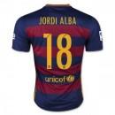 Maillot Barcelone Jordi Alba Domicile 2015 2016