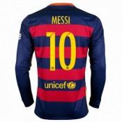 Maillot Barcelone Manche Longue Messi Domicile 2015 2016