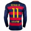 Maillot Barcelone Manche Longue Neymar.Jr Domicile 2015 2016