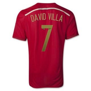Maillot Espagne David Villa Domicile 2014 2015