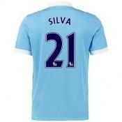 Maillot Manchester City Silva Domicile 2015 2016
