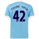 Maillot Manchester City Toure Yaya Domicile 2015 2016