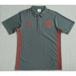 Maillot Manchester United Champion Polo Gris 2016