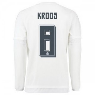 Maillot Real Madrid Manche Longue Kroos Domicile 2015 2016