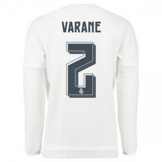 Maillot Real Madrid Manche Longue Varane Domicile 2015 2016