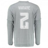 Maillot Real Madrid Manche Longue Varane Exterieur 2015 2016