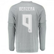 Maillot Real Madrid Manche Longue Benzema Exterieur 2015 2016