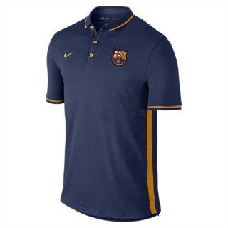 Maillot Barcelone Polo Bleu Fonce 2016