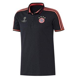 Maillot Bayern Munich Champion Polo Noir 2016