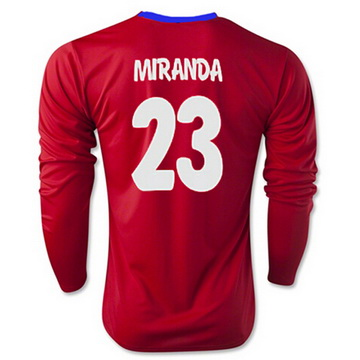 Maillot Atletico De Madrid Ml Miranda Domicile 2015 2016 Collection Rabais En Ligne