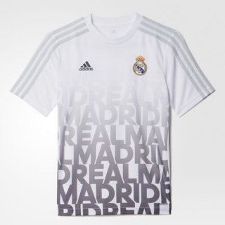 Maillot Avant-Match Real Madrid Blanc 2016 France Métropolitaine