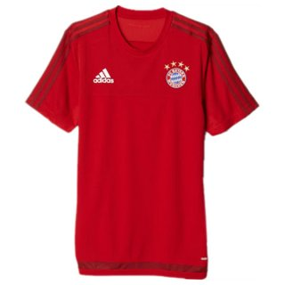Maillot Bayern Munich Formation Rouge 2015 2016 Pas Cher en Promo