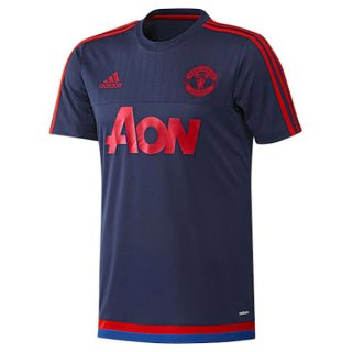 Maillot Manchester United Champion Formation Bleu Marine 2015 2016 Prix France