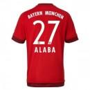 Maillot Bayern Munich Alaba Domicile 2015 2016