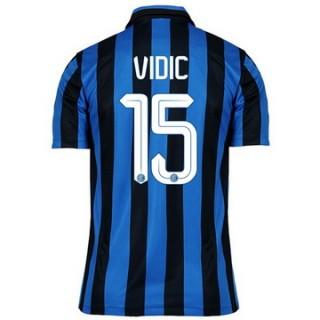 Maillot Inter Milan Vidic Domicile 2015 2016