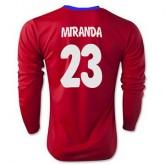 Maillot Atletico De Madrid Ml Miranda Domicile 2015 2016