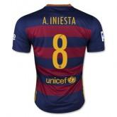 Maillot Barcelone A.Iniesta Domicile 2015 2016