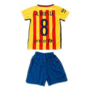 Maillot Barcelone Enfant A.Iniesta Exterieur 2015 2016
