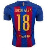 Maillot Barcelone Jordi Alba Domicile 2016 2017
