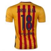 Maillot Barcelone Jordi Alba Exterieur 2015 2016
