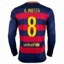 Maillot Barcelone Manche Longue A.Iniesta Domicile 2015 2016